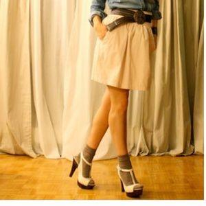 Zara S high waist camel skirt